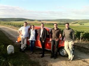 Dans les vignobles de Champagne à Tauxières Mutry